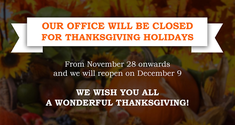 Thanks Giving Office Closing at Georgetown, TX